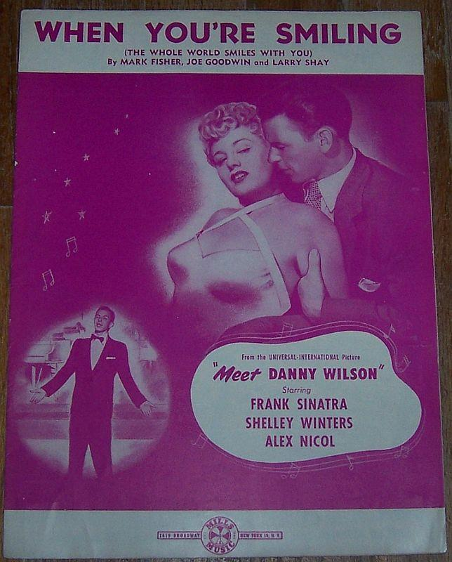 When You're Smiling From Meet Danny Wilson Starring Frank Sinatra Sheet Music