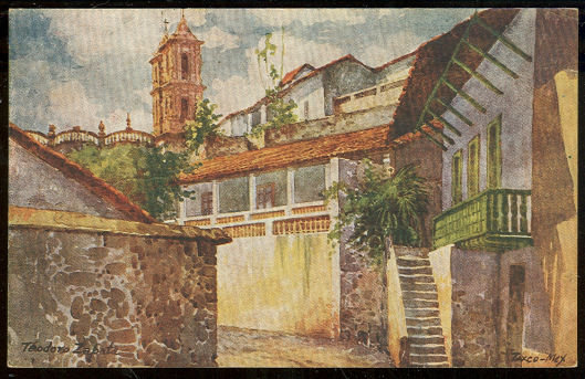 Theodore Zabata Postcard of Taxzo, Mexico