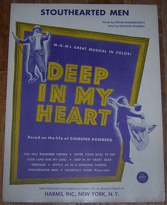 Stouthearted Men From Deep in My Heart Starring Jose Ferrer 1943 Sheet Music