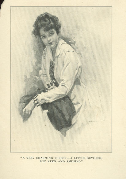 Book Illustration of Lovely Victorian Lady