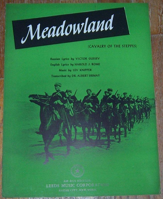 Meadowland Cavalry of the Steppes Russian Music 1943 Sheet Music