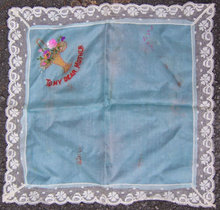 Vintage Embroidered To My Dear Mother Handkerchief