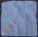 Vintage All Cotton Embroidered Best Wishes Handkerchief