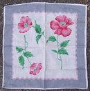 Vintage Red Poppies Floral Printed Handkerchief