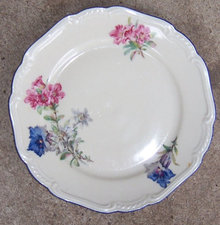 US Zone Germany Jaeger Salad Plate with Flowers