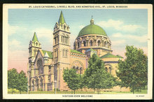 Postcard of St. Louis Cathedral, St. Louis, Missouri