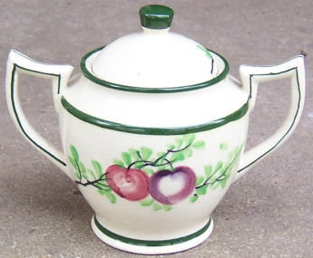 Made in Japan Sugar with Fruits and Leaves Green Trim