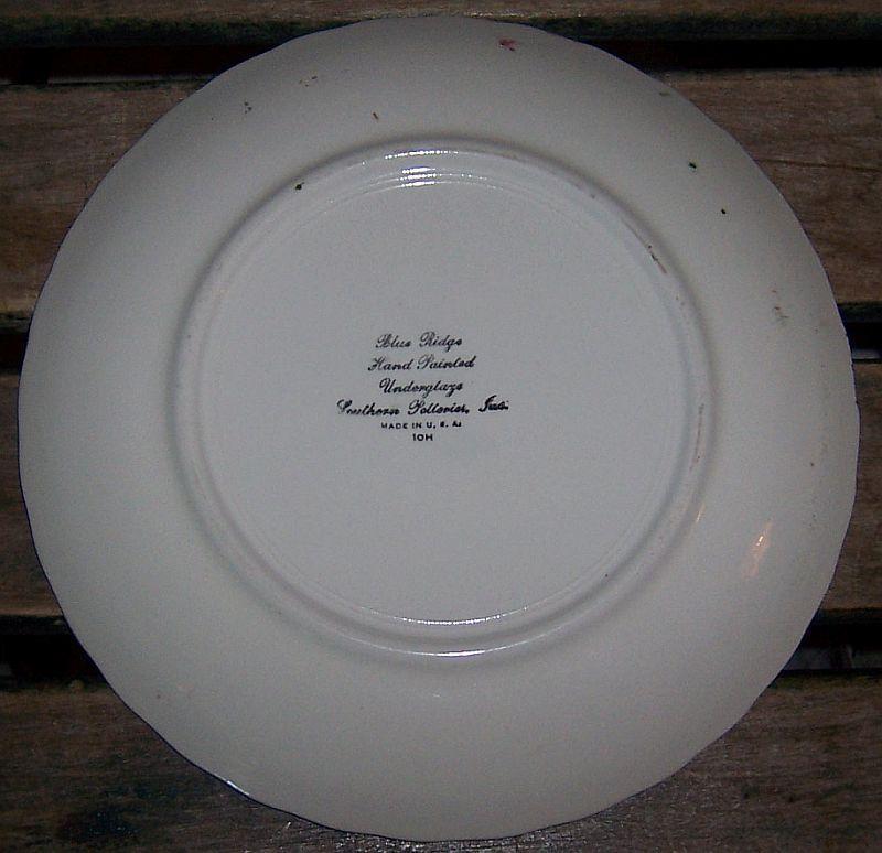 Vintage Blue Ridge Apple Trio Pattern Colonial Shape Dinner Plate
