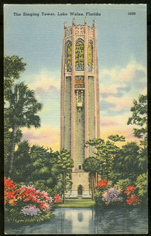 Postcard of The Singing Tower, Lake Wales, Florida
