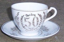 Vintage Napco Golden 50th Anniversary Cup and Saucer