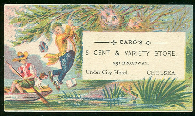 Caro's 5 Cent and Variety Store Victorian Trade Card