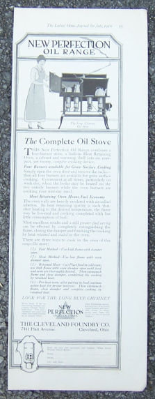 New Perfection Oil Range 1916 Magazine Advertisement
