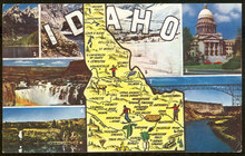 Postcard of The State of Idaho with Seven Views
