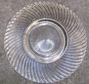 Federal Depression Clear Glass Diana Saucer