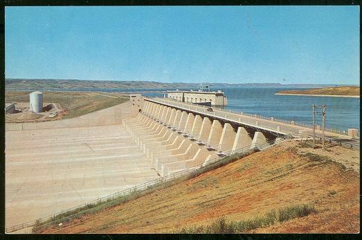 Postcard of Fort Randall Dam and Reservoir, Pickstown, South Dakota