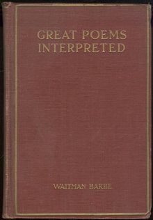 Great Poems Interpreted with Biographies 1927 Anthology