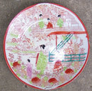 Made in Japan Small Plate with All Over Oriental Design