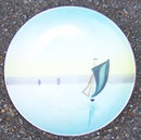 Made in Japan Handpainted Small Plate with Boat Scene