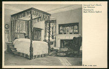 Postcard Lee Bedroom Lee Mansion Ruth Perkins Safford