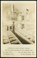 RPPC of Interior of Christ Church Boston, Massachusetts