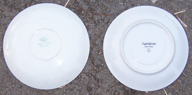 Two Saucers Johnson Bros and English Garden Japan China