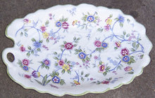 Leaf Handle Dish With Floral Design Andrea by Sadek