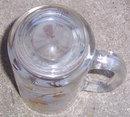 Vintage Gold Pine Cone Libbey Glass Beer Mug