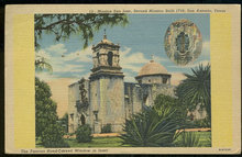 Postcard of Mission San Jose, San Antonio, Texas