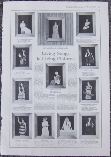 Living Songs in Living Pictures 1917 LHJ Page