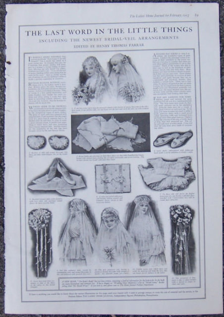 Newest Bridal Veil Arrangements 1916 LHJ Page