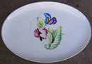 Matsumura Occupied Japan Platter with Bright Flowers