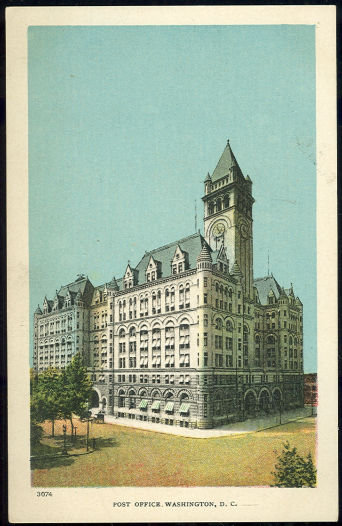 Postcard of Post Office, Washington, D. C.