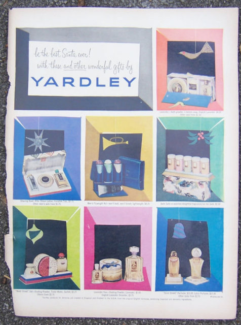 1952 Yardley Gift Sets Magazine Color Advertisement