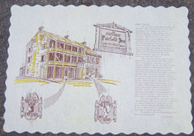 Vintage Unused Place Mat for Historic Fairfield Inn, Fairfield, Pennsylvania