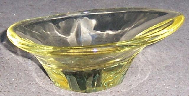 Very Modern Yellow Glass Small Candy Dish
