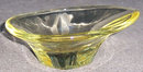 Very Modern Yellow Glass Small Candy Dish