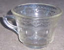 Vintage Patrician Spoke Federal Glass Amber Cup