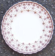 Copeland Spode Brown Fleur de Lis Salad Plate