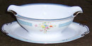 Handpainted Made in Japan Gravy Boat with Floral Sprays