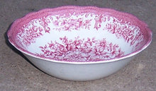 Avondale J & G Meakin Pink and White Cereal Bowl