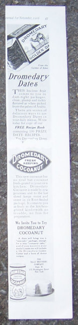 Dromedary Dates and Cocoanut 1916 LHJ Advertisment