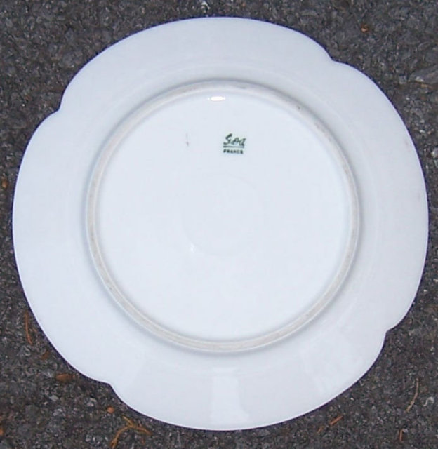 Limoges, France GDA Small Plate with Green Border