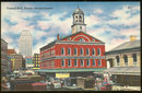 Postcard of Faneuil Hall, Boston, Massachusetts