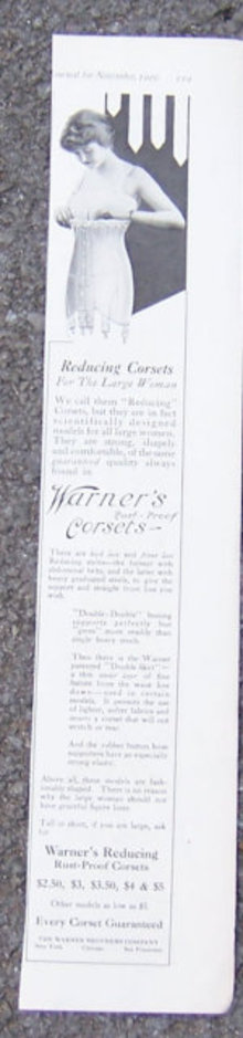 Warner's Rust Proof Corsets 1916 LHJ Advertisment