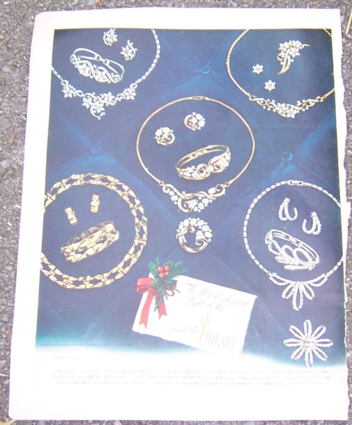 1952 Jewels by Tifari Gift Sets Magazine Color Ad