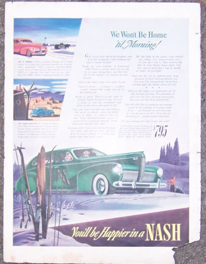 1940 Nash Four Door Sedan Auto Magazine Advertisment