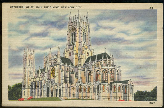 Postcard of Cathedral of St. John the Divine, New York City