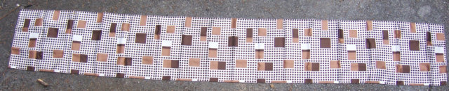 Vintage Brown Dots and Squares Mod Very Long Scarf