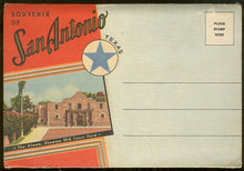 Souvenir Postcard Folder From San Antonio, Texas