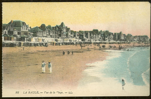Postcard of the Beach at La Baule France Vue de la Page